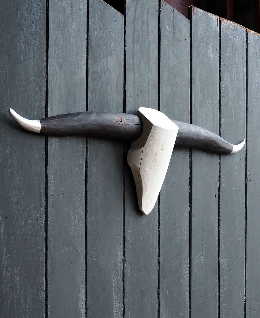 *ONE-OFF* Cattle Skull Wall Decor - BLACKENED HORNED